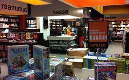 Apollo raamatupood Tallinnas Järve Keskuses
