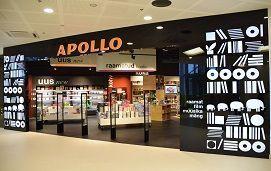 Apollo raamatupood Tallinnas Mustamäe Keskuses