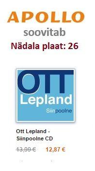 Apollo soovitab 26: Ott Lepland - Siinpoolne CD